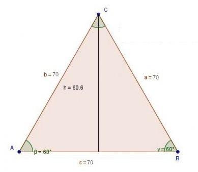 Ligebenet trekant sidelængder